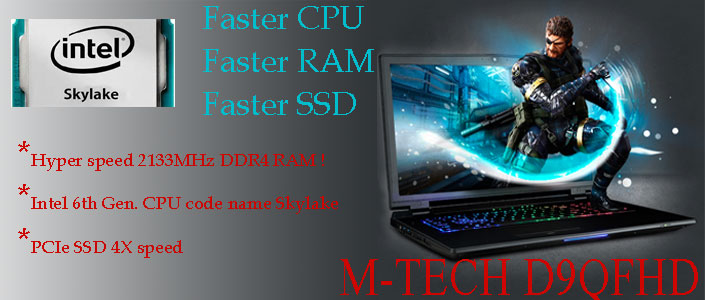 M-Tech D9QFHD Laptop uses Intels desktop CPU to make it the most powerful laptop in the world